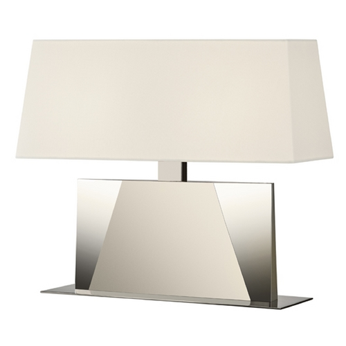 Sonneman Lighting Sonneman Lighting Facet Satin Nickel Table Lamp with Rectangle Shade 6104.13