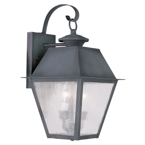 Livex Lighting Livex Lighting Mansfield Charcoal Outdoor Wall Light 2165-61