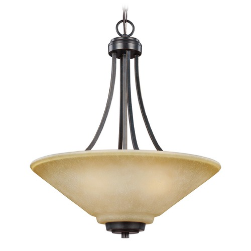 Sea Gull Lighting Sea Gull Lighting Parkfield Flemish Bronze Pendant Light with Coolie Shade 6613003-845
