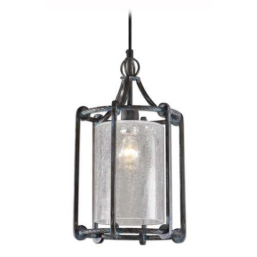 Uttermost Lighting Uttermost Generosa 1 Light Crackle Glass Lantern 22027