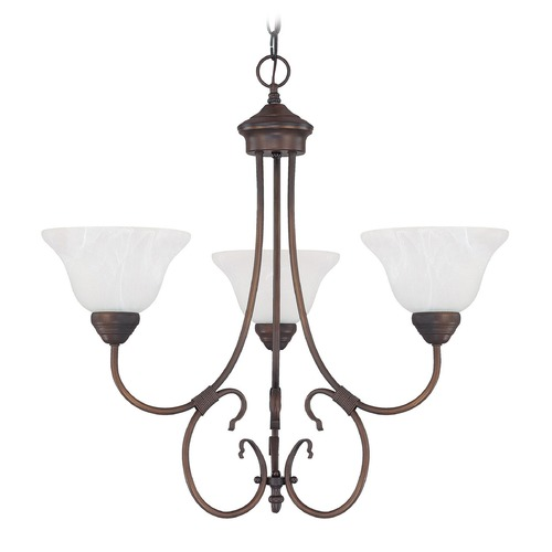 Capital Lighting Capital Lighting Hometown Burnished Bronze Chandelier 3223BB-220