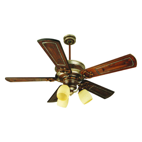 Craftmade Lighting Craftmade Lighting Woodward Dark Coffee/vintage Madera Ceiling Fan with Light K10781