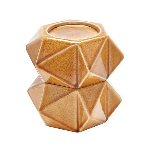 Dimond Home Large Ceramic Star Candle Holders - Honey. Set Of 2 857128/S2