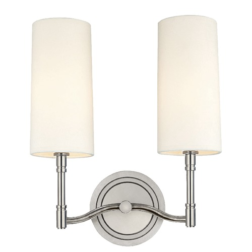 Hudson Valley Lighting Mid-Century Modern Sconce Polished Nickel Dillon by Hudson Valley Lighting 362-PN