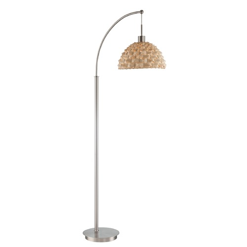 Lite Source Lighting Lite Source Linterna Polished Steel Arc Lamp with Bowl / Dome Shade LS-82825