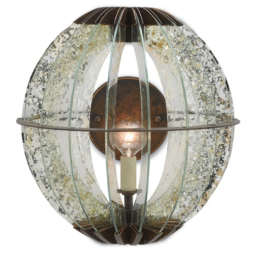 Currey and Company Lighting Currey and Company Zanzibar Light Bronze Gold/raj Mirror Sconce 5000-0015