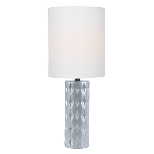 Lite Source Lighting Lite Source Delta Silver Table Lamp with Cylindrical Shade LS-23203SILV