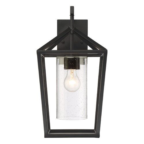 Nuvo Lighting Satco Lighting Hopewell Matte Black Outdoor Wall Light 60/6593