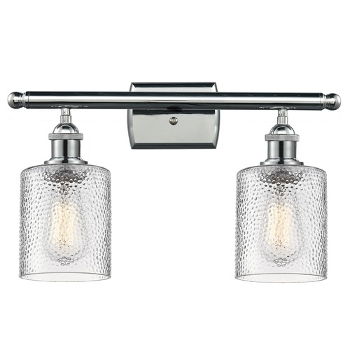 Innovations Lighting Innovations Lighting Cobbleskill Polished Chrome Bathroom Light 516-2W-PC-G112