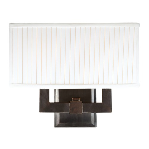 Hudson Valley Lighting Modern Sconce Wall Light with White Shades in Old Bronze Finish 352-OB