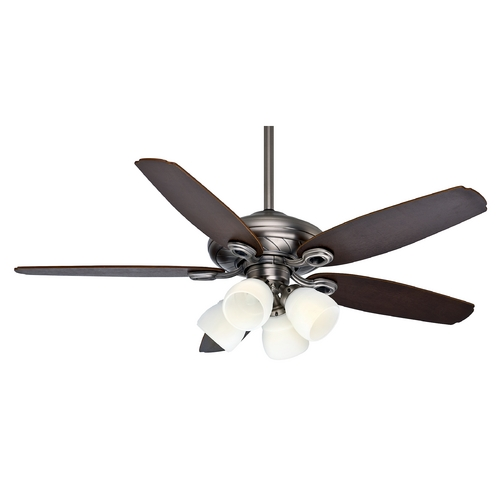 Casablanca Fan Co Casablanca Fan Capistrano Gallery Antique Pewter Ceiling Fan with Light 54032