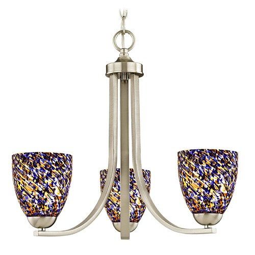 Design Classics Lighting Design Classics Dalton Fuse Satin Nickel Mini-Chandelier 5843-09 GL1009MB