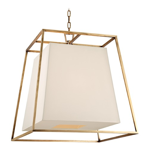 Hudson Valley Lighting Kyle 6 Light Pendant Light Square Shade - Aged Brass 6924-AGB-WS
