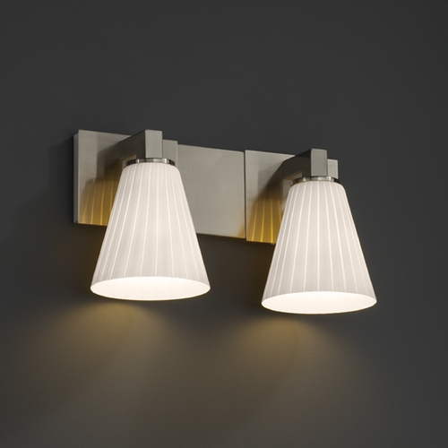 Justice Design Group Justice Design Group Fusion Collection Bathroom Light FSN-8922-50-RBON-NCKL
