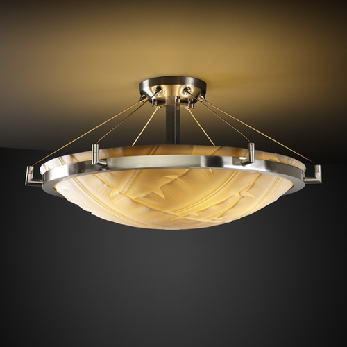 Justice Design Group Justice Design Group Porcelina Collection Semi-Flushmount Light PNA-9682-35-BANL-NCKL