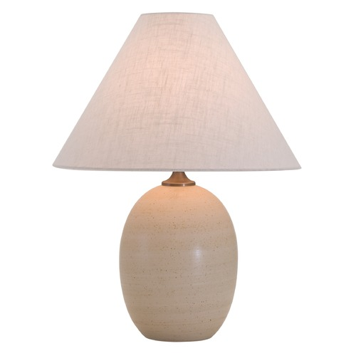 House of Troy Lighting House of Troy Scatchard Oatmeal Table Lamp with Conical Shade GS140-OT