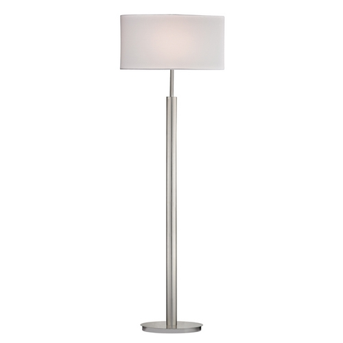 Dimond Lighting Modern Floor Lamp with White Shades in Satin Nickel Finish D2550