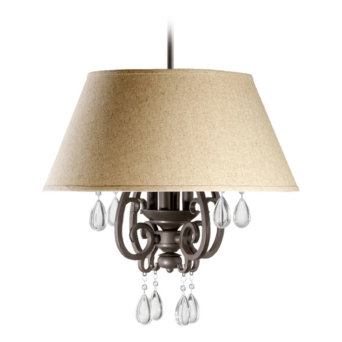 Quorum Lighting Quorum Lighting Anders Oiled Bronze Pendant Light with Empire Shade 6813-4-86