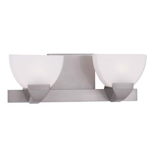 Livex Lighting Livex Lighting Gemini Brushed Nickel Bathroom Light 1362-91