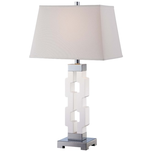 Minka Lighting Minka White Table Lamp with Rectangle Shade 13031-0