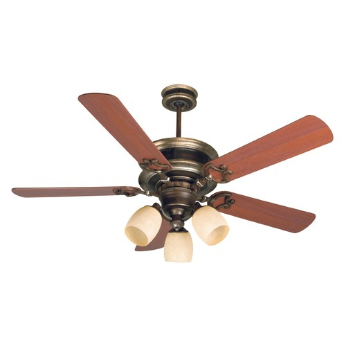 Craftmade Lighting Craftmade Lighting Woodward Dark Coffee/vintage Madera Ceiling Fan with Light K10782