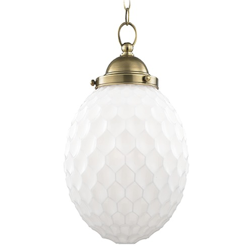 Hudson Valley Lighting Columbia 1 Light Mini-Pendant Light - Aged Brass 3010-AGB