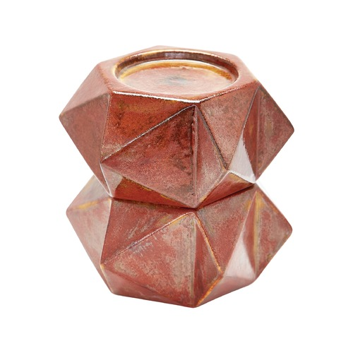 Dimond Lighting Large Ceramic Star Candle Holders - Russet. Set Of 2 857129/S2