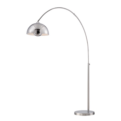 Lite Source Lighting Lite Source Chrome Arc Lamp with Bowl / Dome Shade LS-82846
