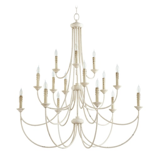 Quorum Lighting Quorum Lighting Brooks Persian White Chandelier 6250-15-70