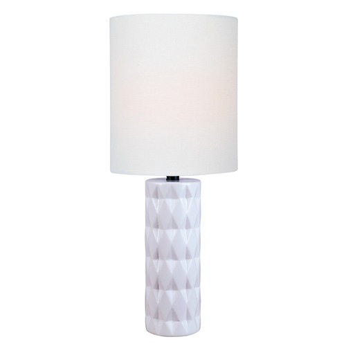 Lite Source Lighting Lite Source Delta White Table Lamp with Cylindrical Shade LS-23203WHT