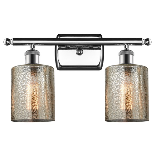 Innovations Lighting Innovations Lighting Cobbleskill Polished Chrome Bathroom Light 516-2W-PC-G116