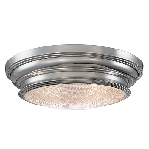 Hudson Valley Lighting Flushmount Light with Clear Glass in Polished Nickel Finish 7516-PN