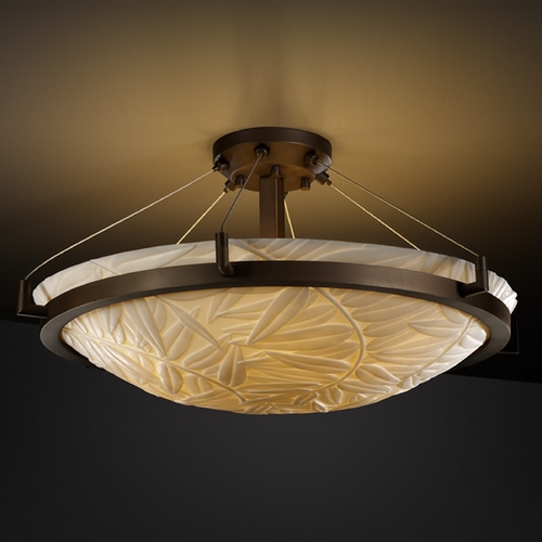 Justice Design Group Justice Design Group Porcelina Collection Semi-Flushmount Light PNA-9682-35-BMBO-DBRZ