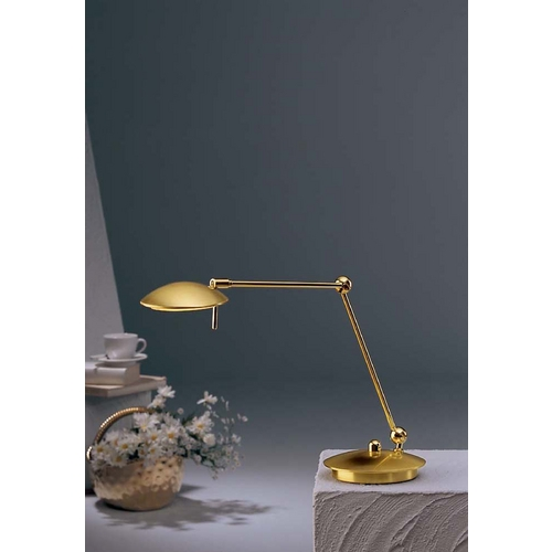 Holtkoetter Lighting Holtkoetter Modern Swing Arm Lamp in Brushed Brass Finish 6238 BB