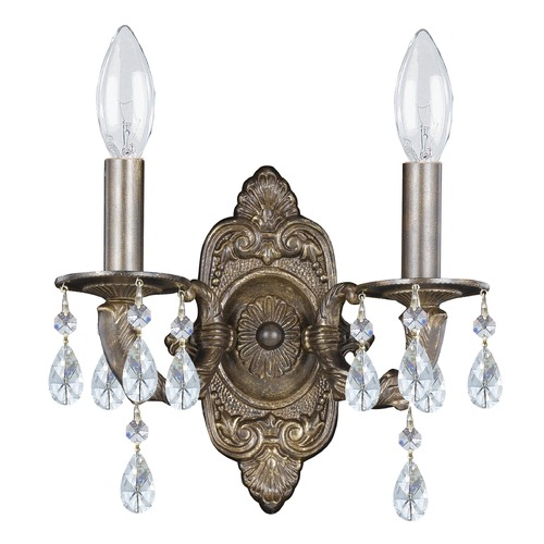Crystorama Lighting Crystorama Lighting Paris Market Venetian Bronze Sconce 5022-VB-CL-S