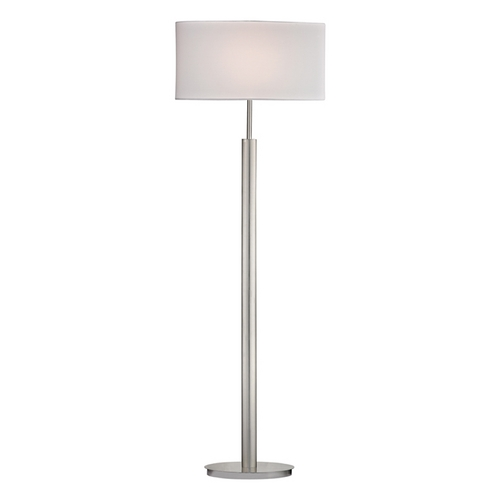 Dimond Lighting Modern LED Floor Lamp with White Shades in Satin Nickel Finish D2550-LED