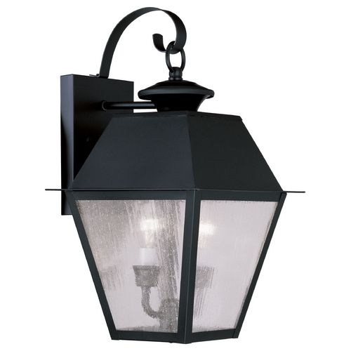 Livex Lighting Livex Lighting Mansfield Black Outdoor Wall Light 2165-04
