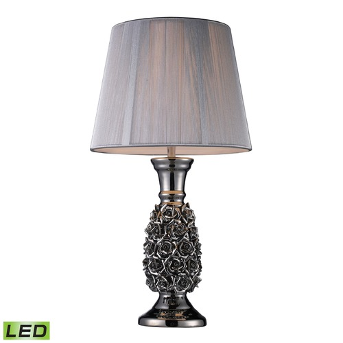 Dimond Lighting Dimond Lighting Alisa Silver LED Table Lamp with Empire Shade D1447-LED