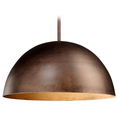 Cyan Design Cyan Design Carson Oiled Bronze Pendant Light with Bowl / Dome Shade 04672
