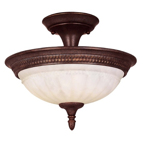 Savoy House Savoy House Walnut Patina Semi-Flushmount Light KP-6-507-2-40