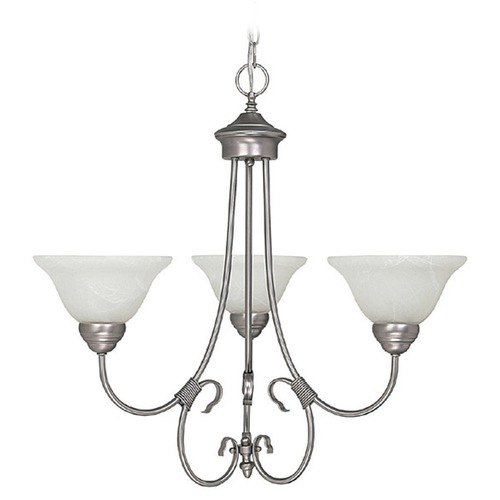 Capital Lighting Capital Lighting Hometown Matte Nickel Chandelier 3223MN-220