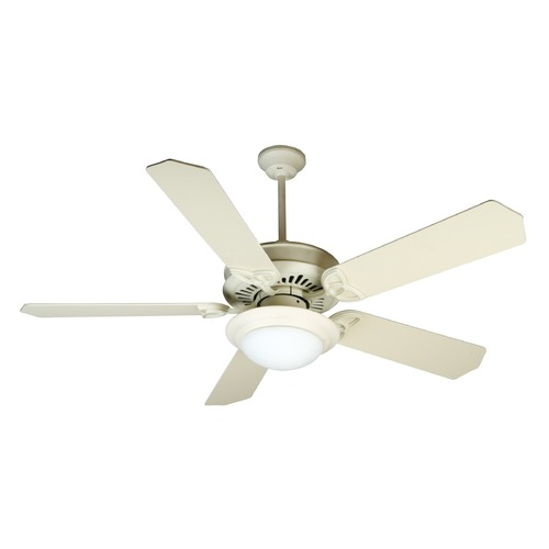 Craftmade Lighting Craftmade Lighting American Tradition Antique White Ceiling Fan with Light K10787