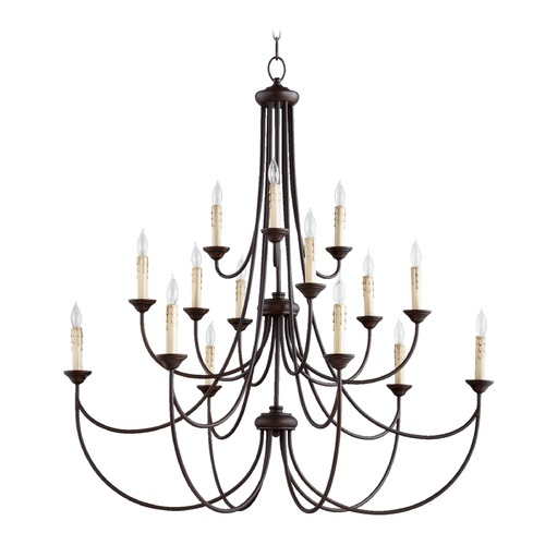 Quorum Lighting Quorum Lighting Brooks Oiled Bronze Chandelier 6250-15-86