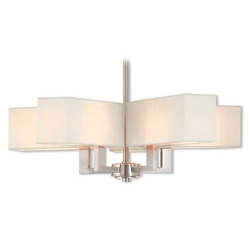 Livex Lighting Livex Lighting Rubix Brushed Nickel Chandelier 42675-91