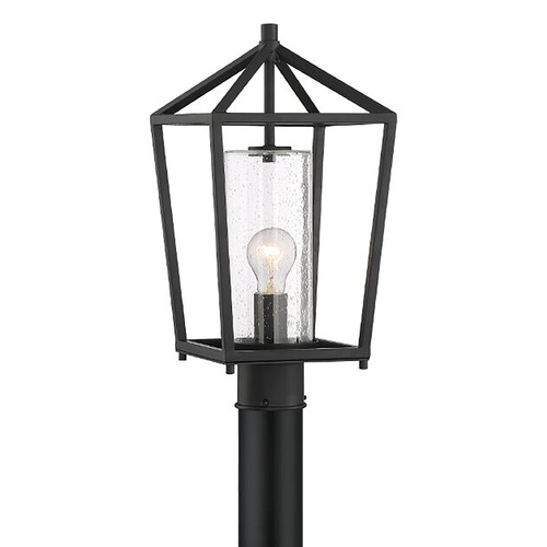 Nuvo Lighting Satco Lighting Hopewell Matte Black Post Light 60/6595