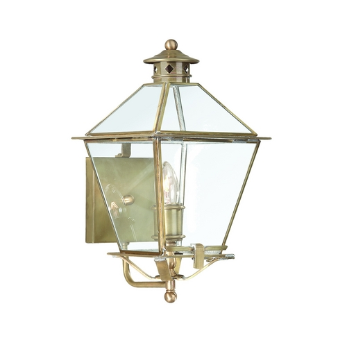 Troy Lighting Outdoor Wall Light with Clear Glass in Charred Iron Finish B8951CI