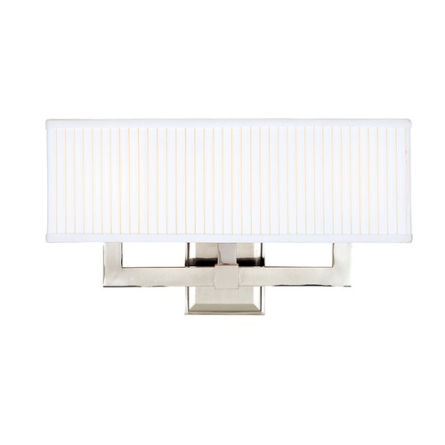 Hudson Valley Lighting Modern Sconce Wall Light with White Shades in Polished Nickel Finish 353-PN