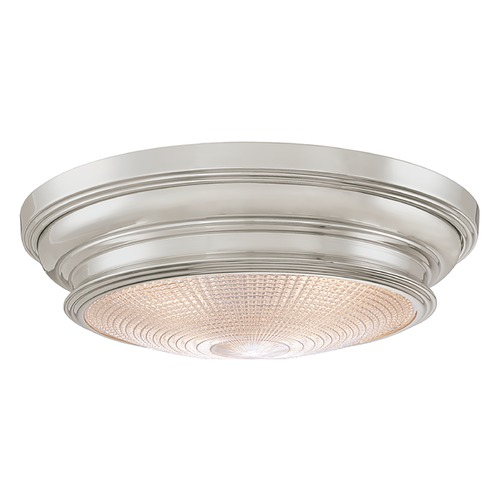 Hudson Valley Lighting Flushmount Light with Clear Glass in Satin Nickel Finish 7516-SN
