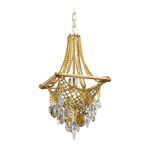 Corbett Lighting Corbett Lighting Barcelona Silver and Gold Leaf Pendant Light 125-41