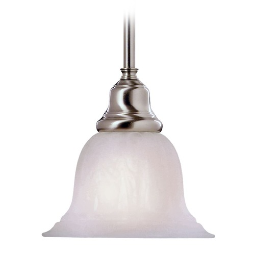 Design Classics Lighting Mini-Pendant with Alabaster Glass and LED Light Bulb 649-09 10W LED
